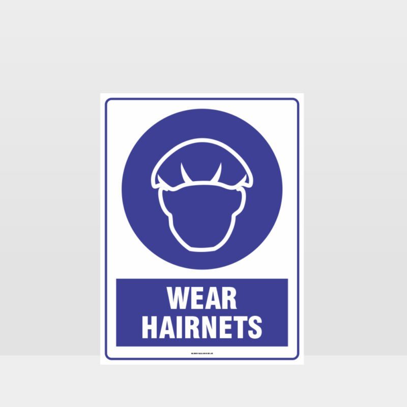 Mandatory Wear Hairnets Sign