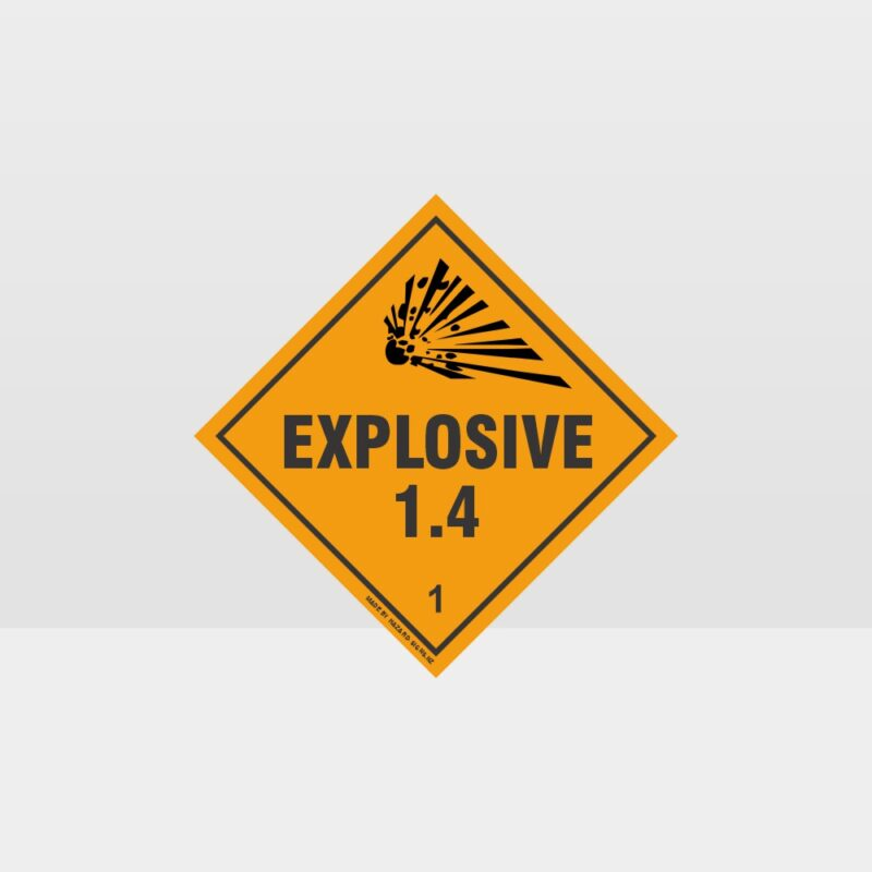 Class 1.4 Explosive Sign