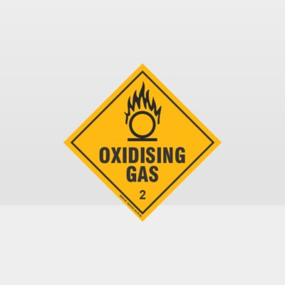 Class 2 Oxidising Gas Sign