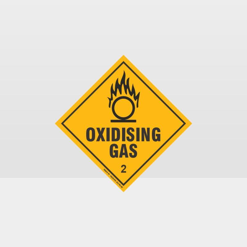 Class 2 Oxidising Gas Sign
