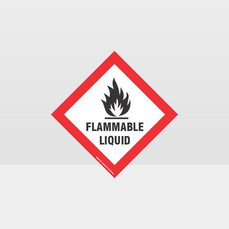 Class 3 Flammable Liquid Sign