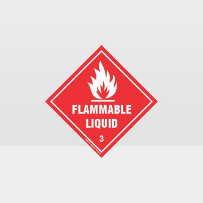 Class 3 Flammable Liquid Sign