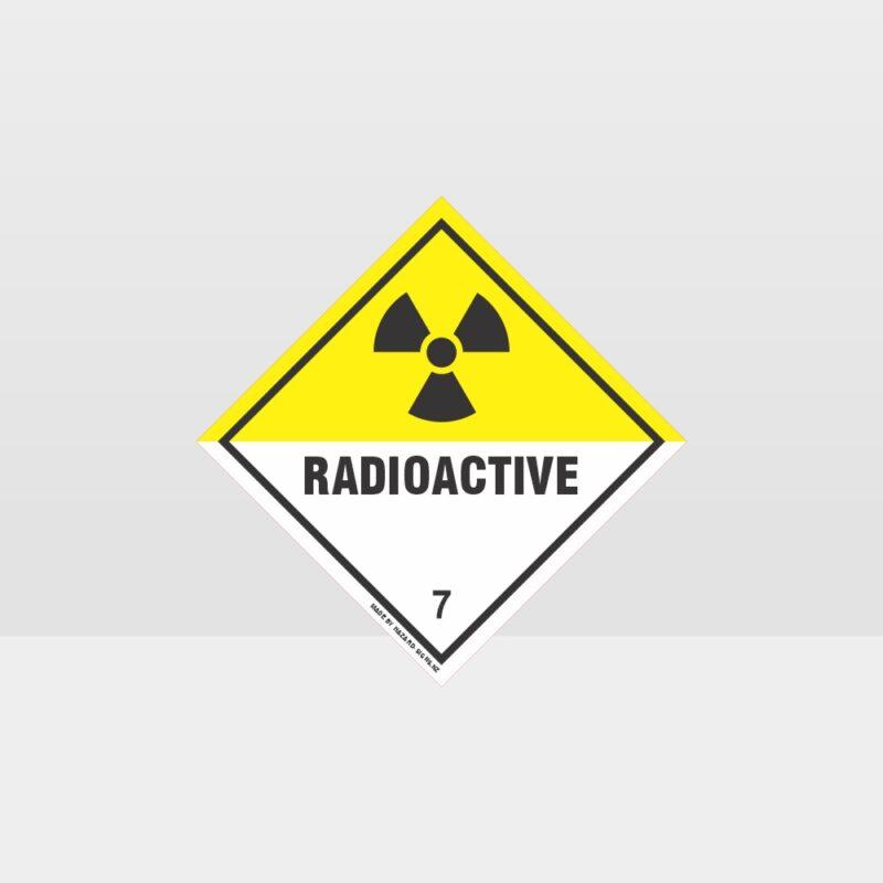 Class 7 Radioactive Sign
