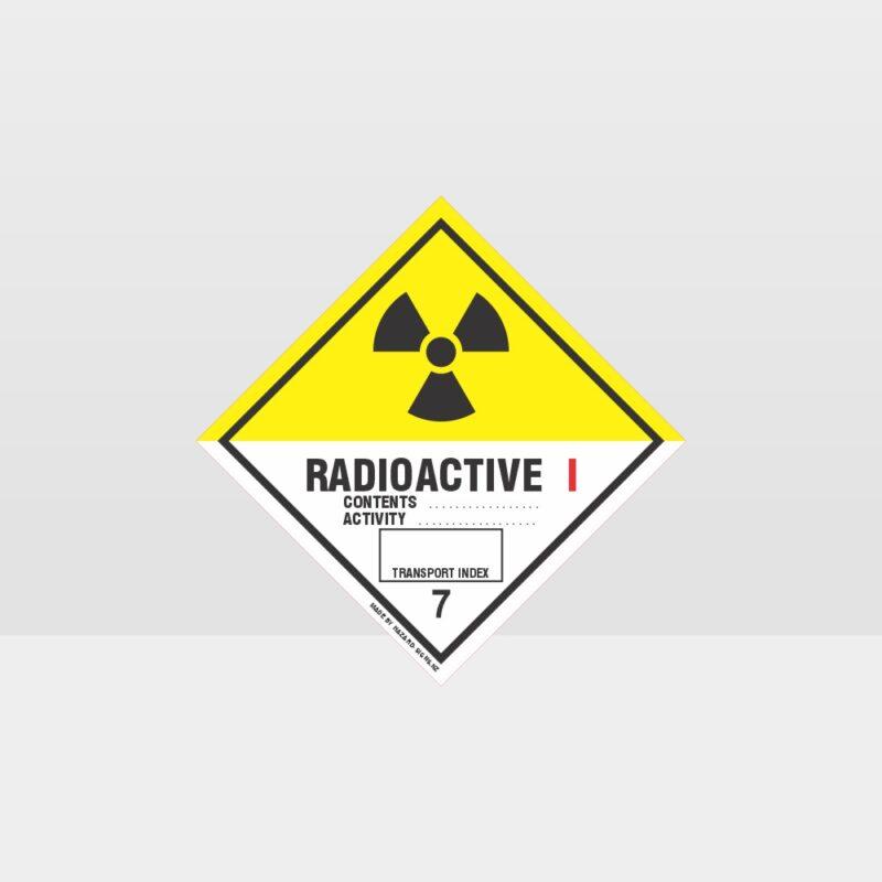 Class 7 Radioactive 1 Sign