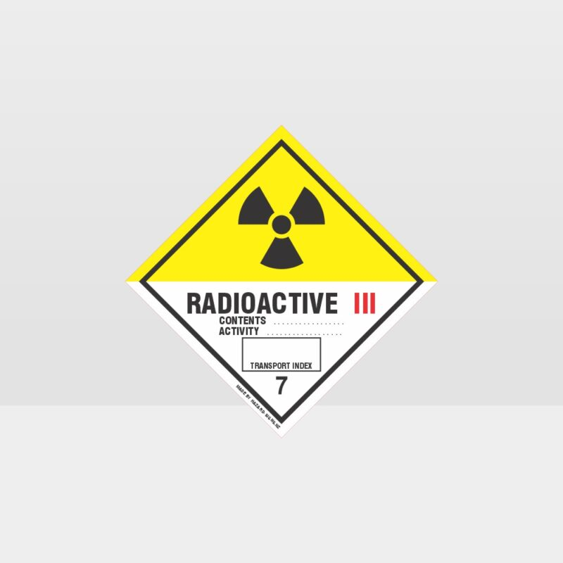 Class 7 Radioactive 3 Sign