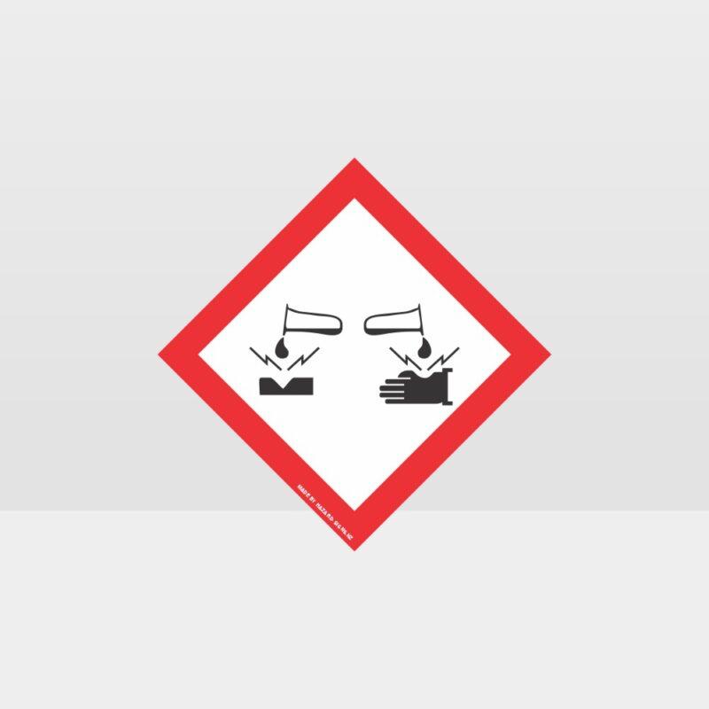 Class 8 Corrosive Sign