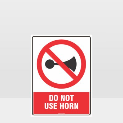 Prohibition Do Not Use Horn Sign