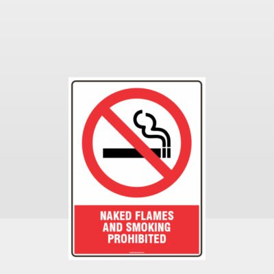 Prohibition Naked Flames And Smoking Prohibited Sign