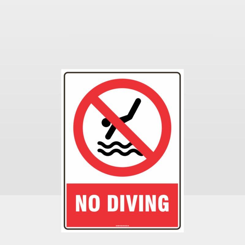 Prohibition No Diving Sign