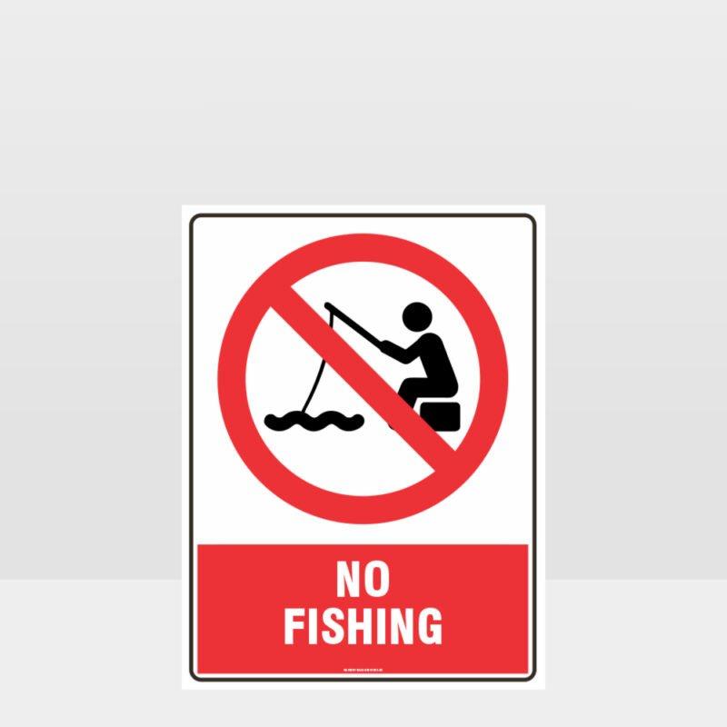 Prohibition No Fishing Sign