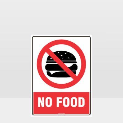Prohibition No Food Sign