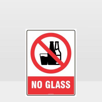 Prohibition No Glass Sign