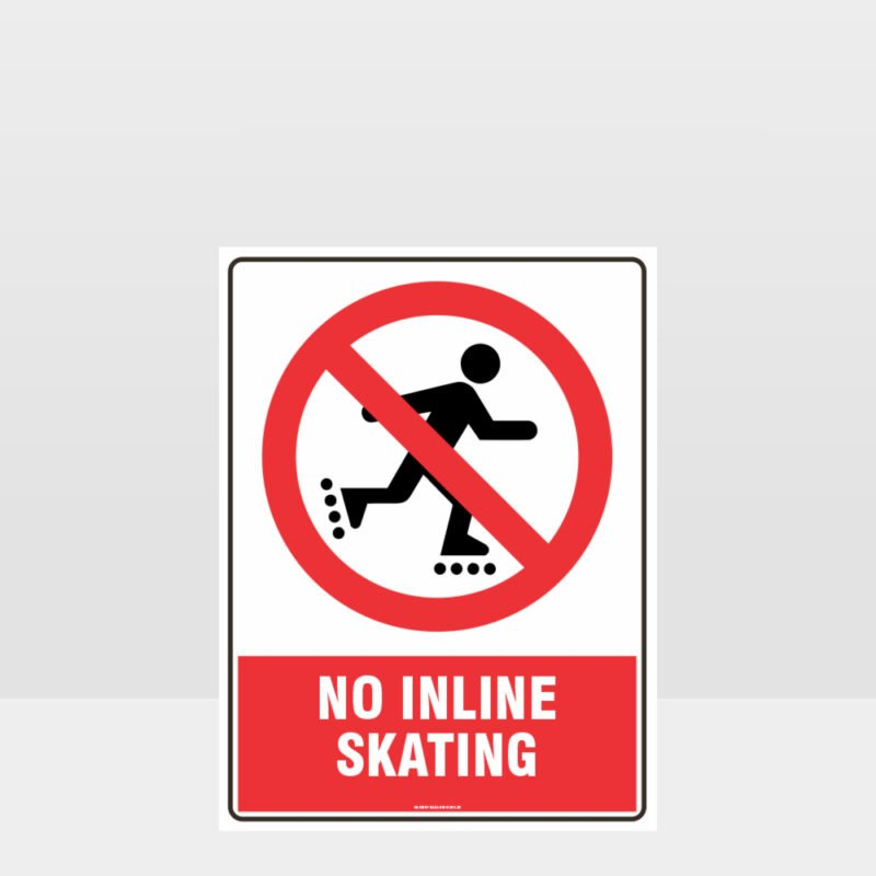 Prohibition No Inline Skating Sign