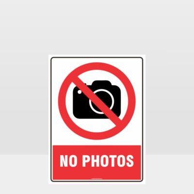 Prohibition No Photos Sign