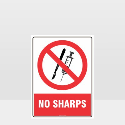 Prohibition No Sharps Sign