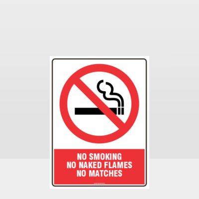 Prohibition No Smoking No Naked Flames Sign