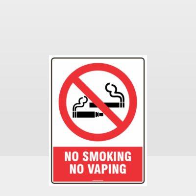 Prohibition No Smoking No Vaping Sign