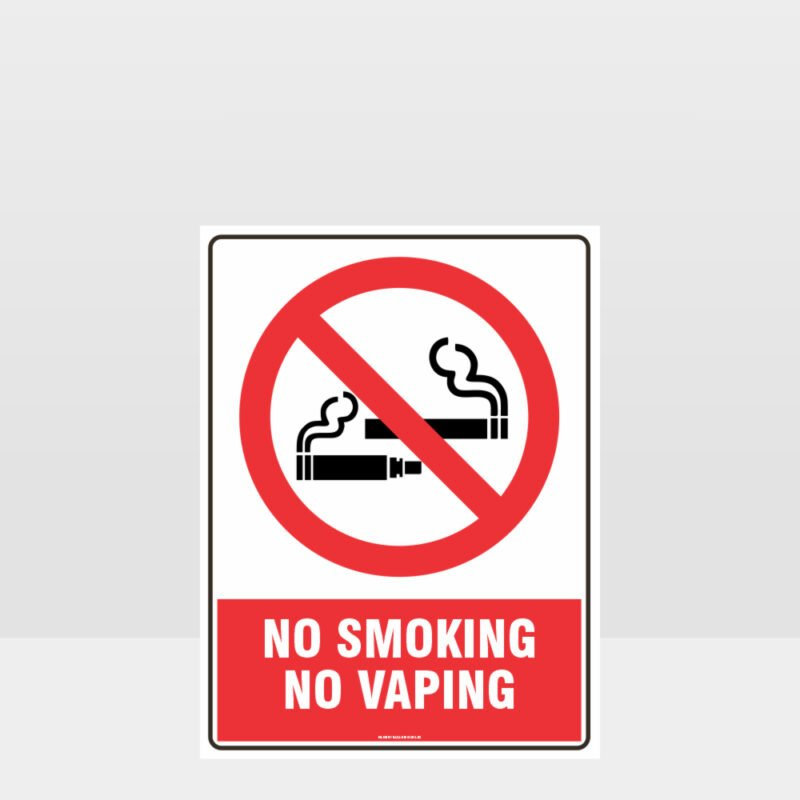 Prohibition No Smoking No Vaping Sign