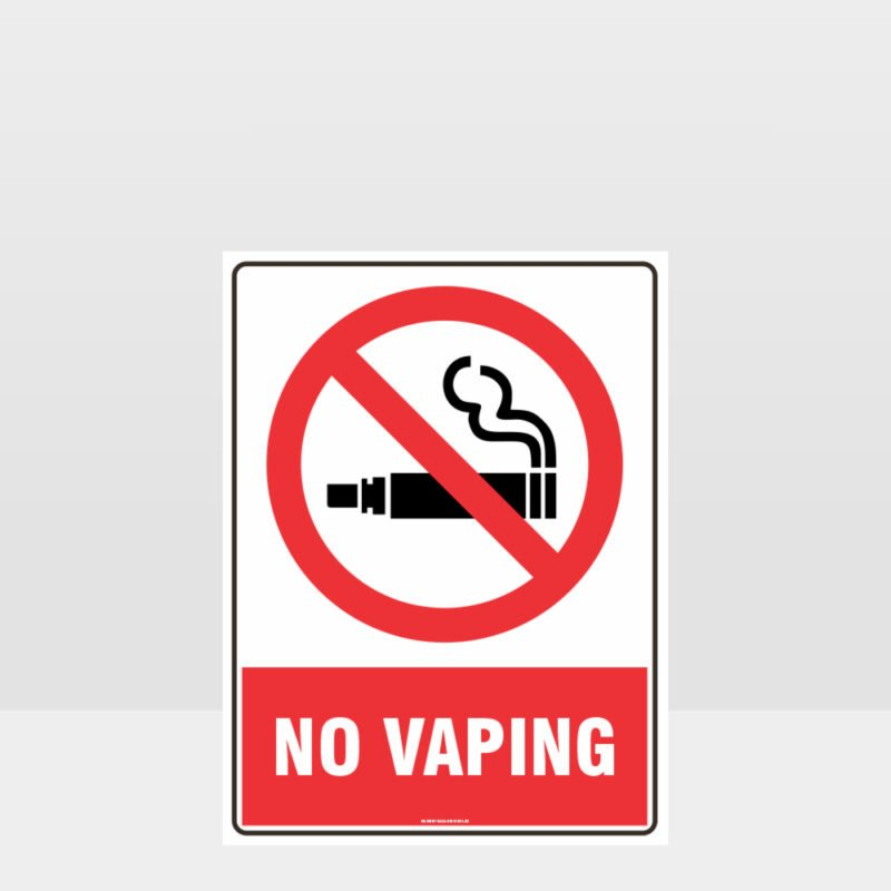 Prohibition No Vaping Sign