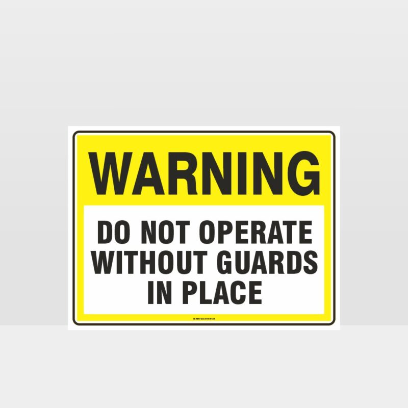 Warning Do Not Operate Sign