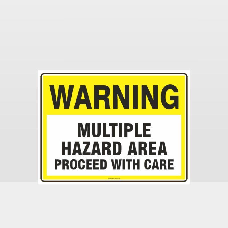 Warning Multiple Hazard Area Sign