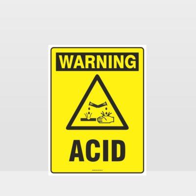 Warning Acid Sign