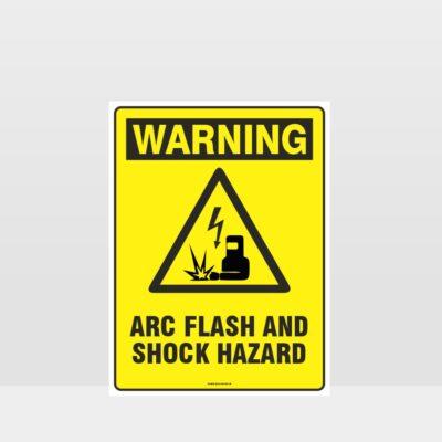 Warning Arc Flash And Shock Hazard Sign