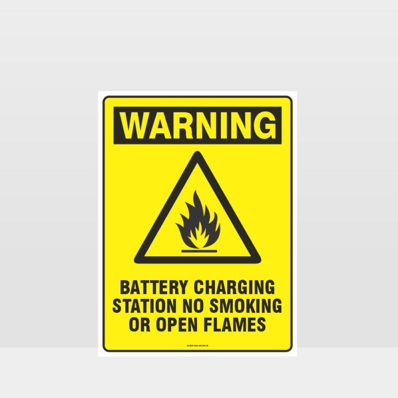 Warning Battery Charging Station Sign