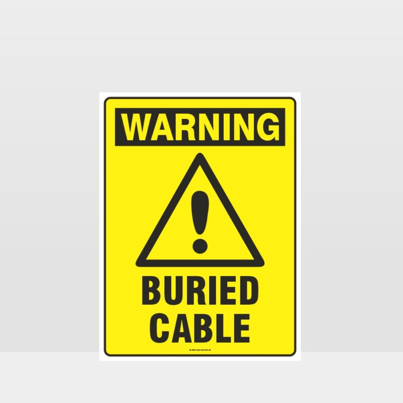 Warning Buried Cable Sign