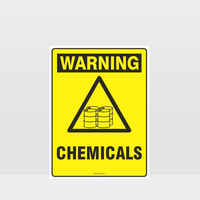 Warning Chemicals Sign