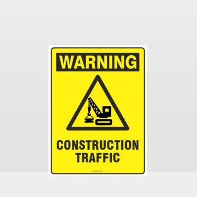 Warning Construction Traffic Sign