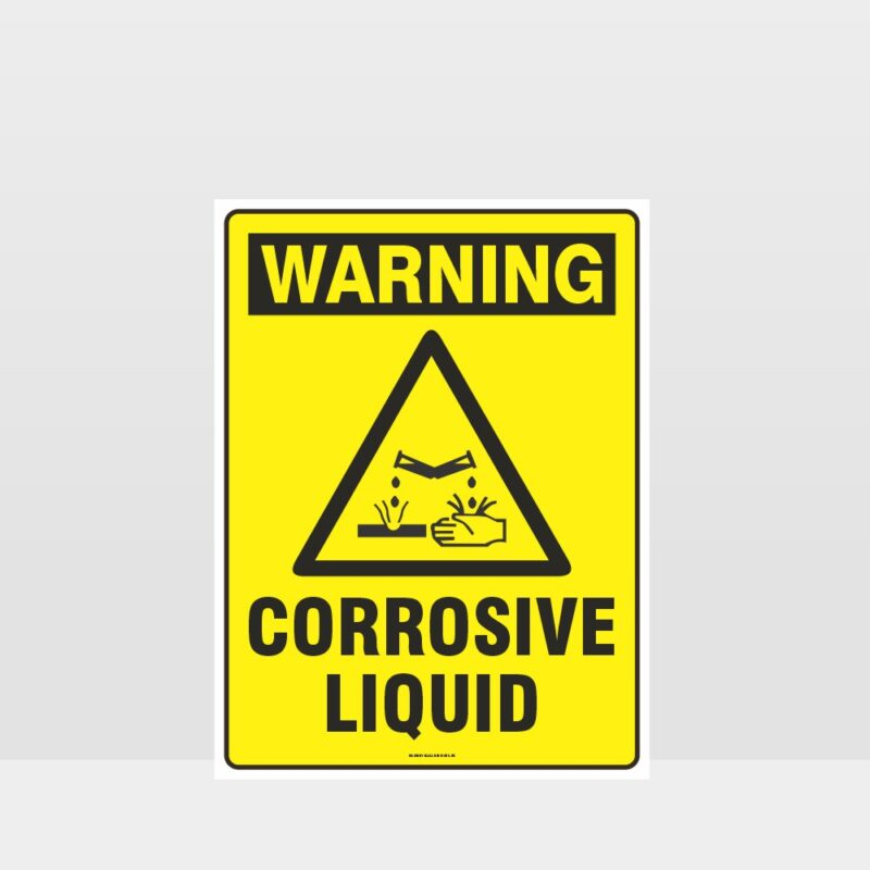 Warning Corrosive Liquid Sign