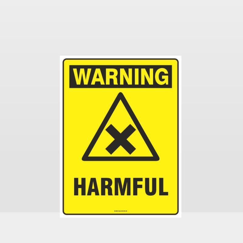 Warning Harmful Sign