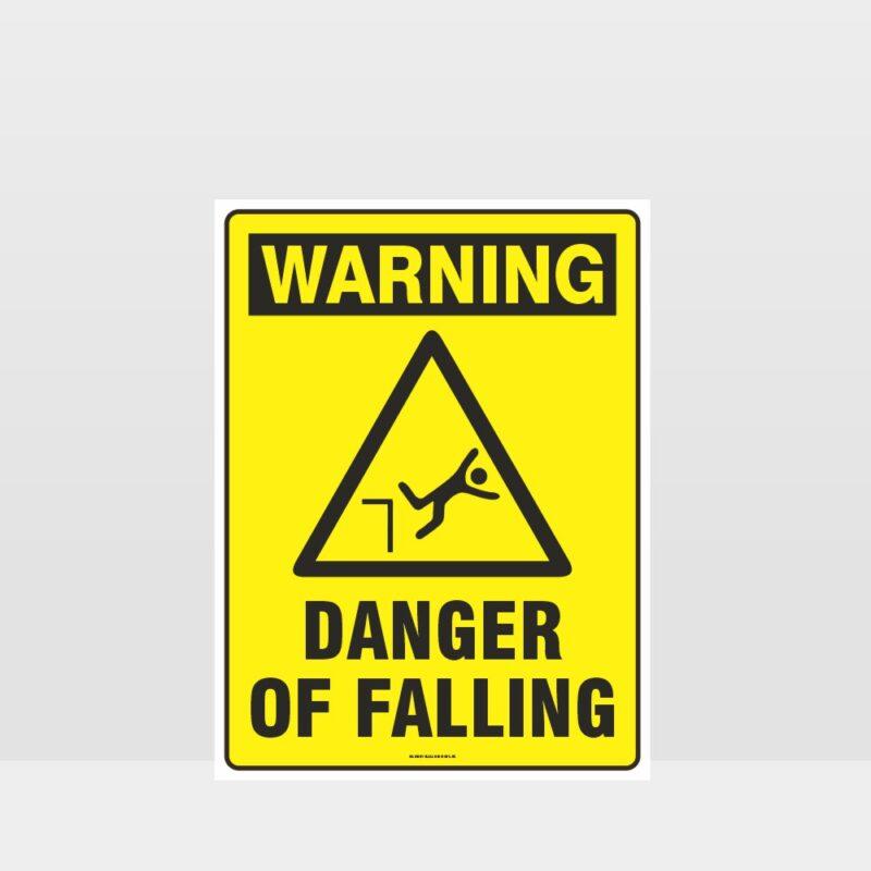 Warning Danger Of Falling Sign