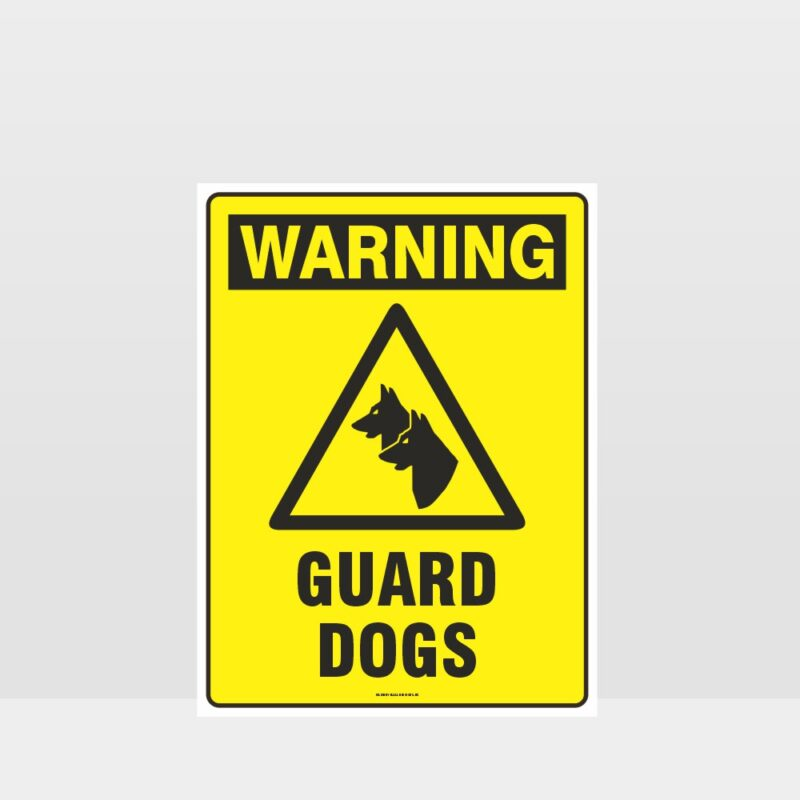 Warning Guard Dogs Sign