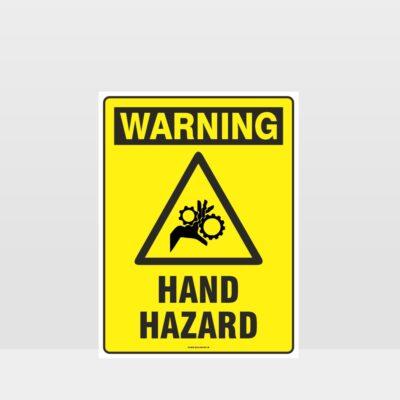 Warning Hand Hazard Sign