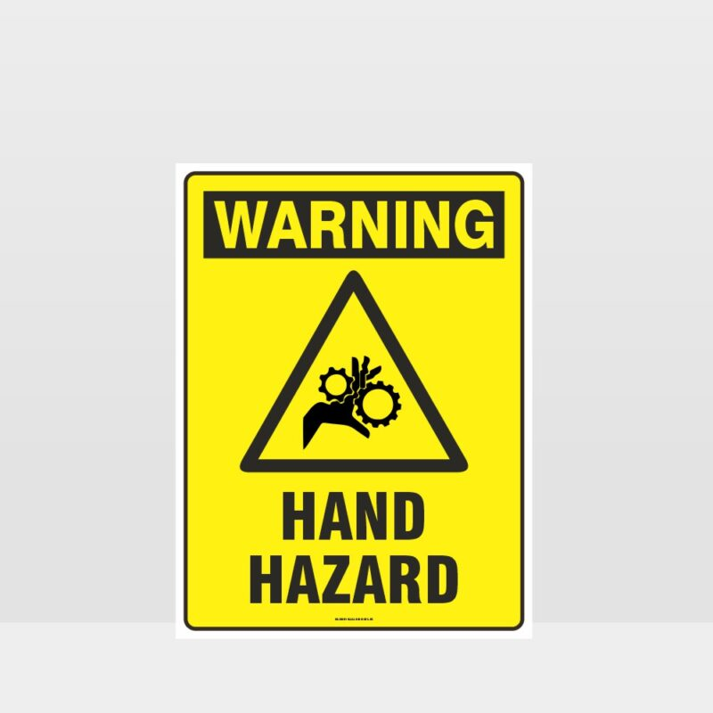 Warning Hand Hazard Sign
