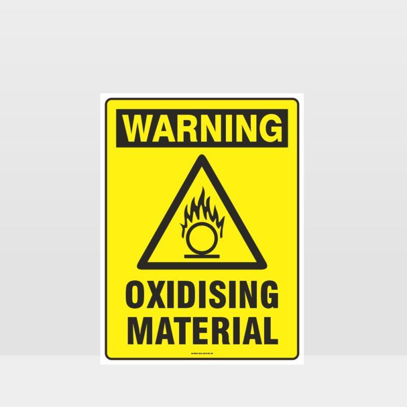 Warning Oxidising Material Sign