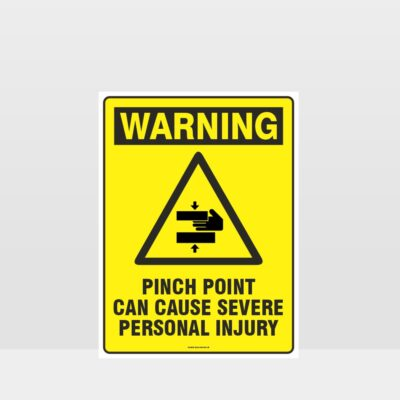 Warning Pinch Point Sign