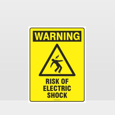 Warning Risk Of Electric Shock Sign