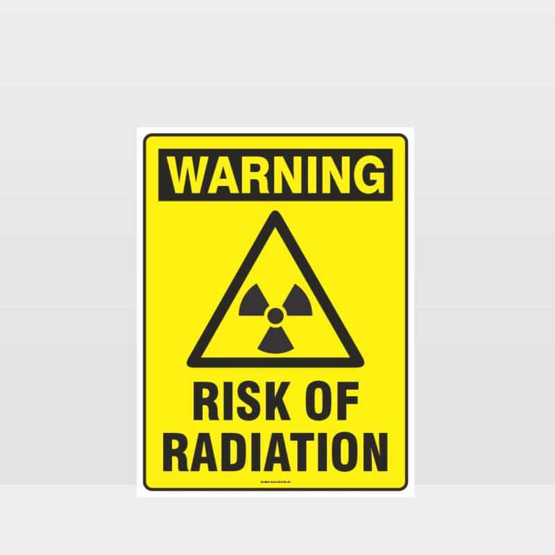 Warning Risk Of Radiation Sign