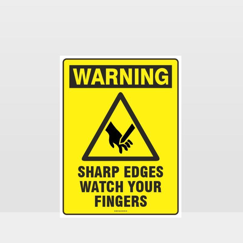 Warning Sharp Edges Sign