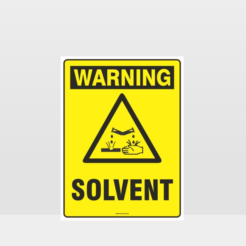 Warning Solvent Sign