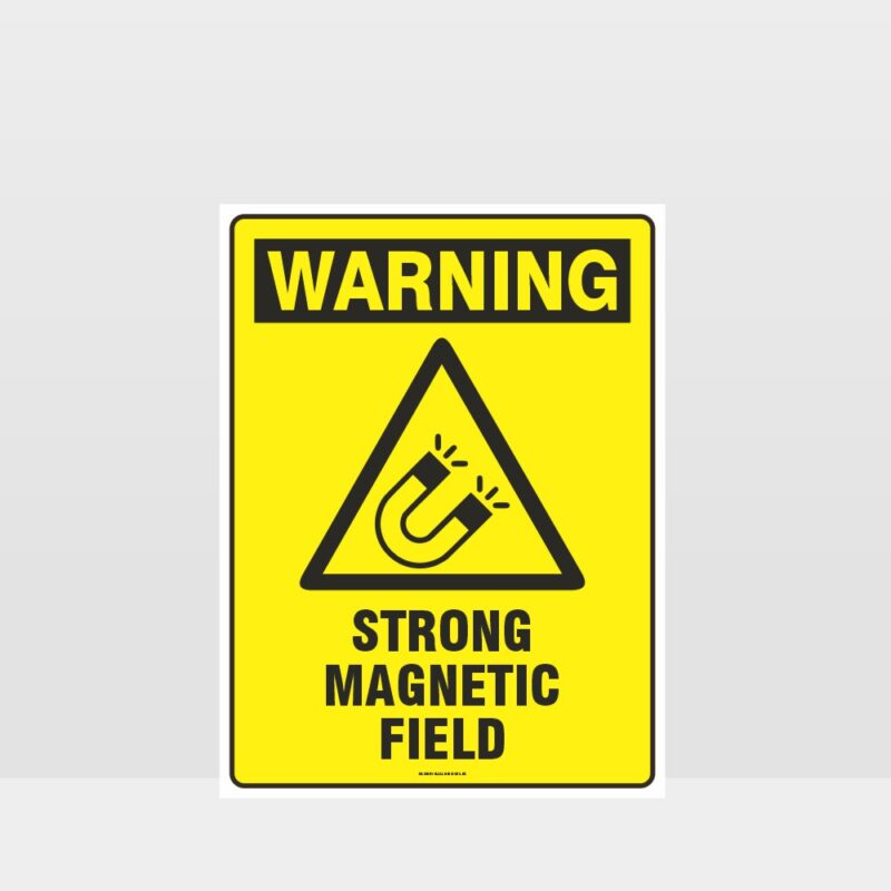 Warning Strong Magnetic Field Sign