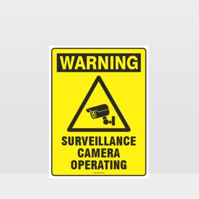 Warning Surveillance Cameras Operating Sign