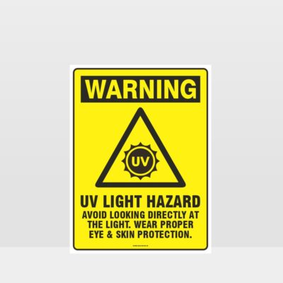 Warning UV Light Hazard Sign