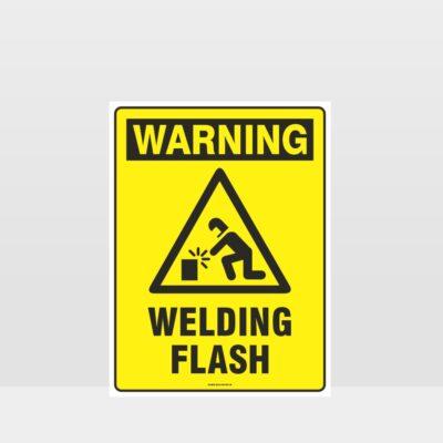 Warning Welding Flash Sign