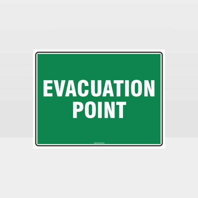 Evacuation Point Sign