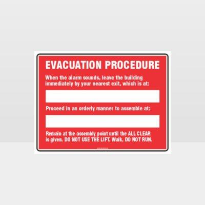 Evacuation Procedure 02 Sign