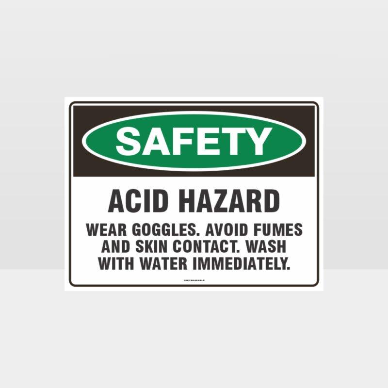 Acid Hazard Sign